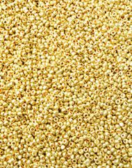 13/0 Charlotte Cut Preciosa Czech Gold Glass Seed Beads Loose-12Gramss
