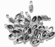 50PCS Antique Silver Half Football charms-Pendant