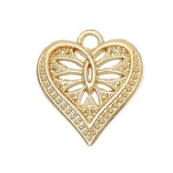 6pcs Fancy Gold Plated Flower Carved Hollow Pendant-Charm-Jewelry Supplies