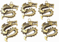 Antique Copper Fierce Dragon Animal Charms- Beading Supplies