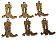 12PCS Antique Brass Boots charms-Pendant-Jewelry Making Findings