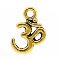 "12PCS Antique Gold ""OHM"" Charm Embellishment 16x11mm Jewelry Supplies"