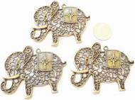 Antique copper Majestic Elephant Animal Charm- Beading Supplies