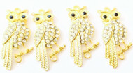 Gold Watchful Owl Animal Charm- Beading Supplies