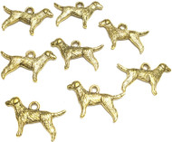 Antique Gold Pointer Dog Animal Charms- Beading Supplies