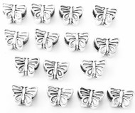 Silver Petite Butterfly Animal Charms- Beading Supplies