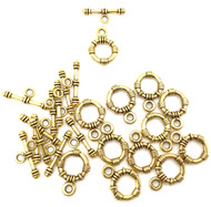 12 Gold plated  Pewter Toggles