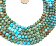 6mm Turquoise round Gemstone beads