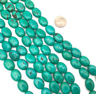 15x 11mm Turquoise oval Gemstone beads