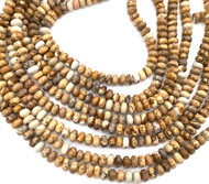 6 mm Picture Jasper rondelle Gemstone beads