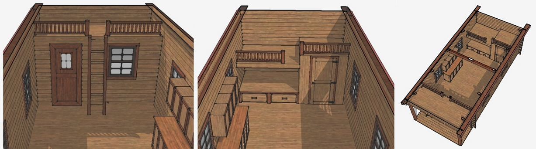 Amish Built Log Cabin drawing sketch