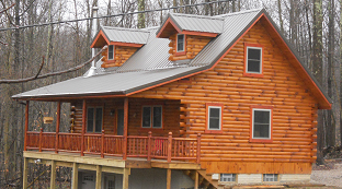 Built on site Log Cabins in Ohio