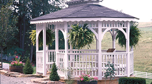 Luxcraft Outdoor Wooden & Vinyl Gazebos
