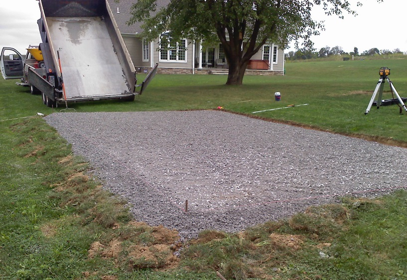 Limestone Site Prep for Outdoor Structures