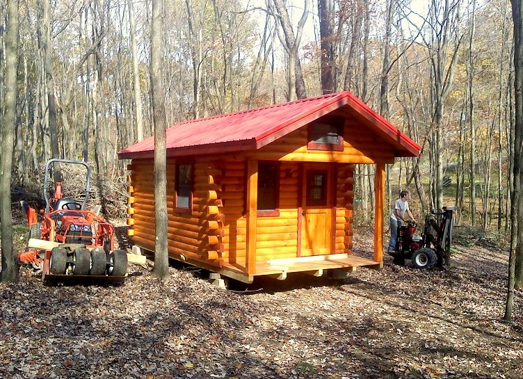 Amish Built Log Cabin