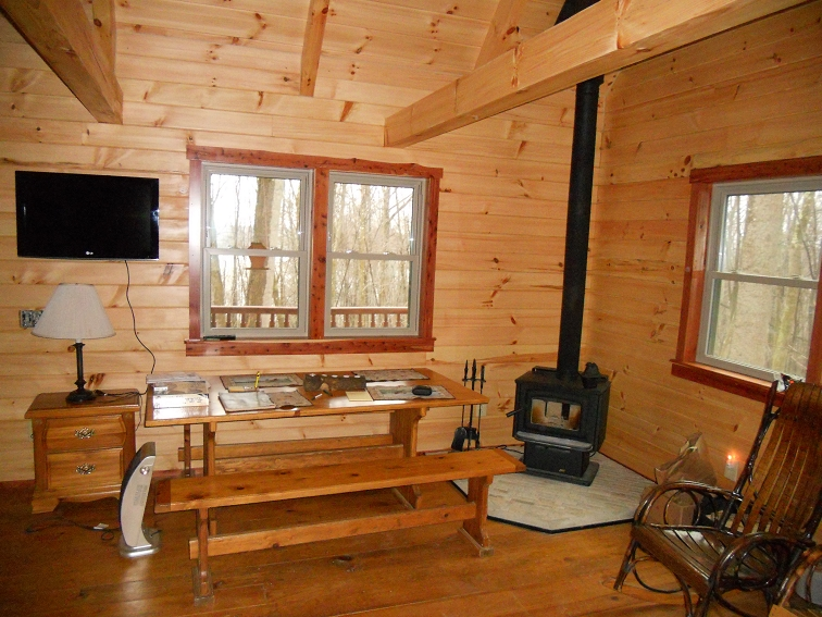 Amish Built on Site Log Cabin