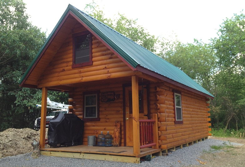 Amish Built Log Cabin to East Liverpool, Ohio
