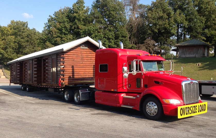 Three of the six pre-built 10x14 cabins we delivered to Fairburn, Georgia to be used as ticket booths at a festival.