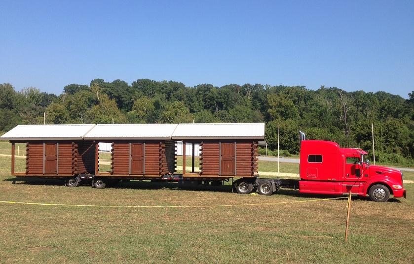Amish Built Log Cabin to Georgia