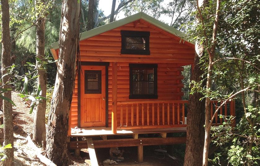Amish Built Log Cabin to Brisbane, Australia
