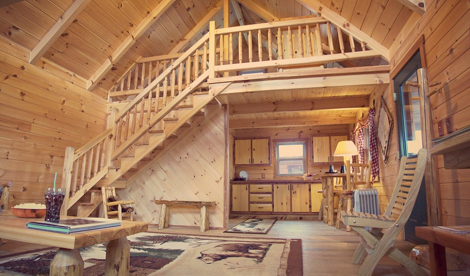 Amish Built Log Cabin Columbiana, Ohio