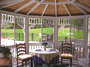 Luxcraft Vinyl and Wood Gazebo
