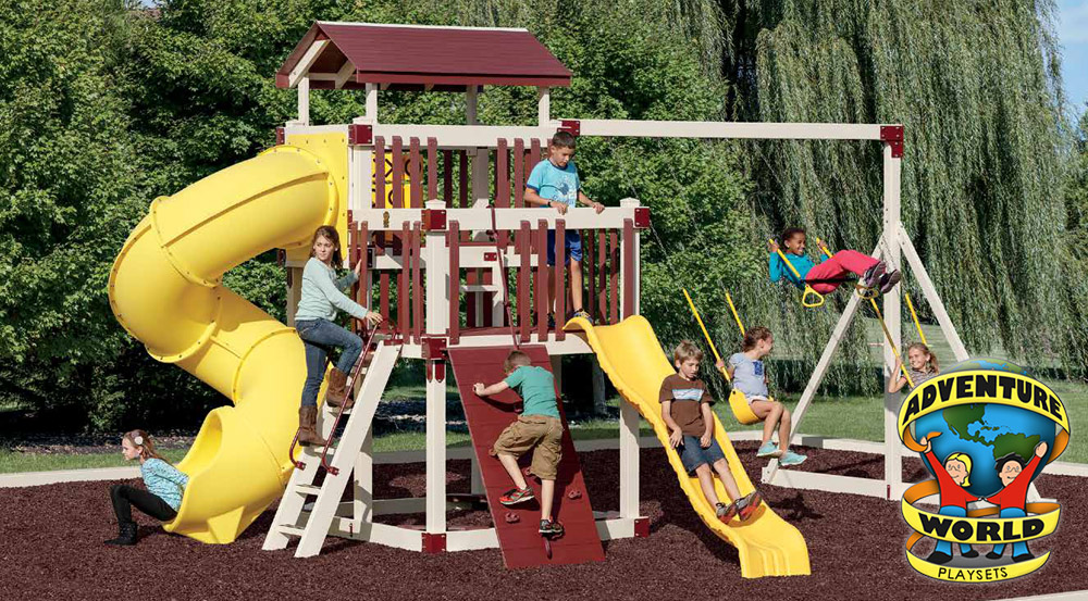 Adventure World Vinyl Swing Sets in Ohio