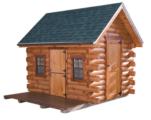 Trapper Log Cabin Wayside Lawn Structures