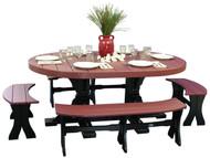 4x6' Oval Table Set #3