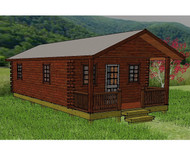 Hunter Deluxe Low-Profile Log Cabin