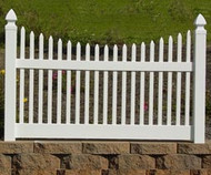 Vinyl Narrow Concave Picket Fence