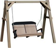 Clay Swing Stand shown with 4' Poly Classic Swing!