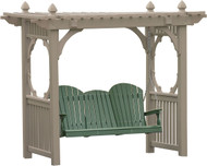 Clay - Classic Vinyl Swing Stand shown with 5' Adirondack Poly Swing