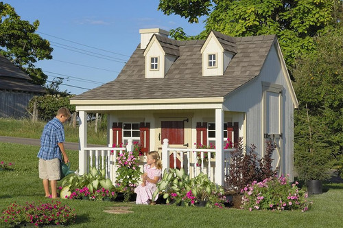 11x8 Pennfield Cottage with optional chimney and dimensional shingles