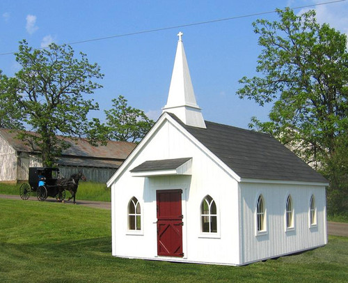 8x12 Chapel with grid windows