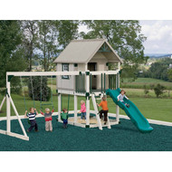 Happy Hideout Swing Set - Adventure World | Wayside Lawn Structures in Ohio