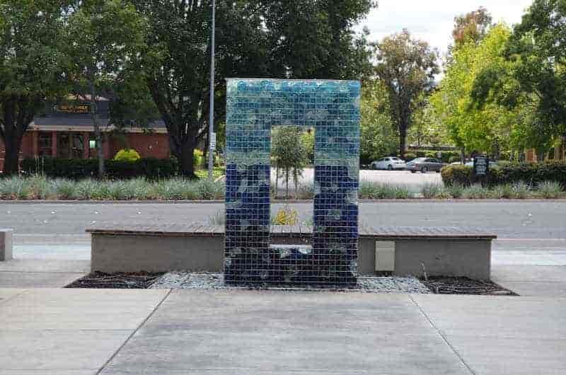 LED Gabion Fountain Day Time