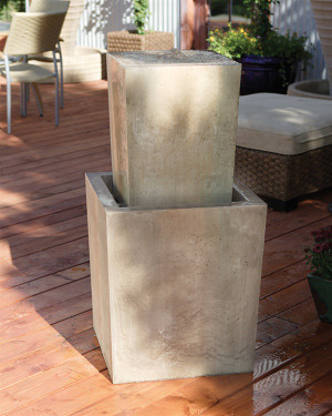 Fountain Squared Fountain (GFRC in Sierra Finish)
