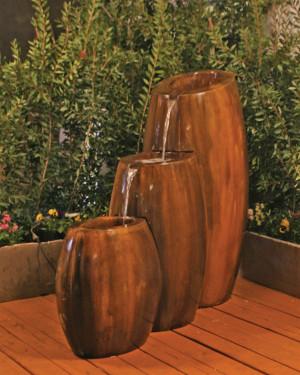 Hybrid 3-Part Fountain (GFRC in Rodda bronze)