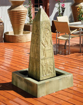 Obelisk Fountain (GFRC in Dark Ancient finish)