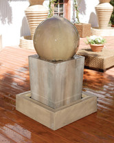 Obtuse Fountain with Ball (GFRC in Sierra finish)