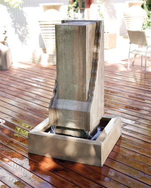 Scallop Monolith Fountain (GFRC in Sierra finish)