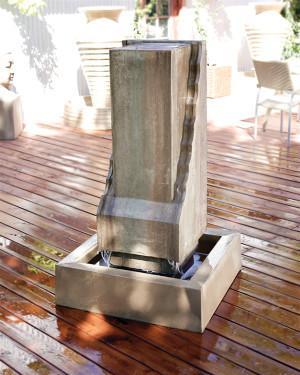 Scallop Monolith Fountain (GFRC in Sierra finish)
