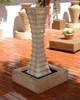 Square Scallop Fountain  (GFRC in Ancient finish)