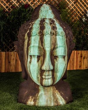 Buddha Head Sculpture XL (fiberstone resin in Custom finish)