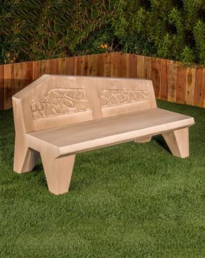 Avalon Bench (GFRC in Straw finish)