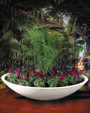 Wok Planters (GFRC in Seasalt finish)