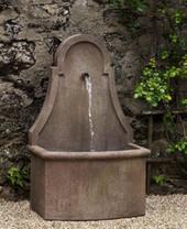 Closerie Wall Fountain (Cast Stone in Limestone finish)