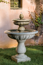 Longvue Fountain (Cast Stone in Alpine Stone finish)