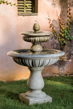 Longvue Fountain (Cast Stone in Alpine Stone finish)
